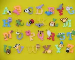Alfabeto animado em biscuit