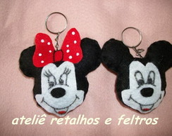 chaveiros minnie e mickey