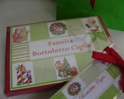 Cart�o Natal Patchwork verde