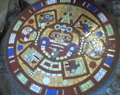 Tampo de mesa - calend�rio Asteca