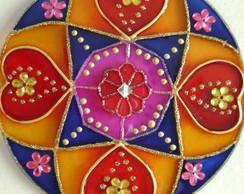 Mandala Cora��es em flores MP-79