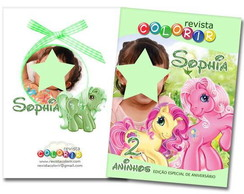 Kit Revista Colorir Little Pony