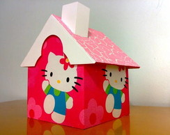 Casinha porta panetones - Hello Kit