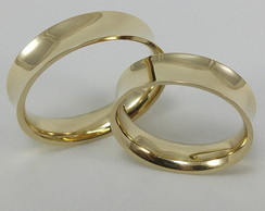 b905221dc37af Aliança Ouro Amarelo e Ouro Branco   Elo7