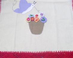 Caminho de mesa com patchwork