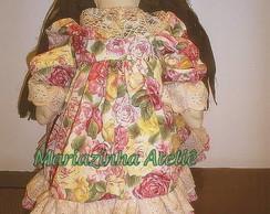 Boneca Sue (floral grande) (Vendido)