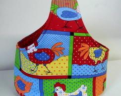 cesta pra p�es (tecido galinhas)