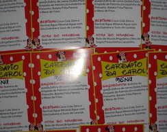 Card�pio da Minnie!!!!