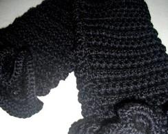 Polaina em crochet Onix