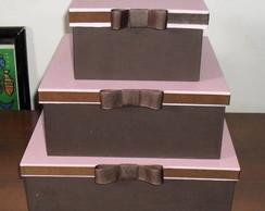 Trio de caixas