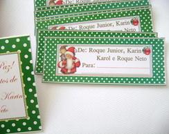 Etiqueta De/Para Natal Po� verde