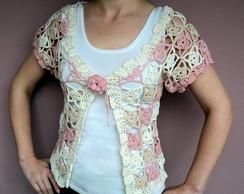 Blusa / colete de croch�