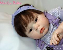Boneca Reborn Jessica cabelo implantado