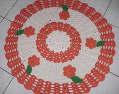 Tapete de Barbante redondo floral