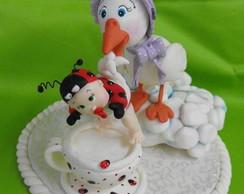 Topo ch� de beb� menina joaninha
