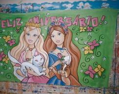 Painel Barbie Pincesa e a Pleb�ia