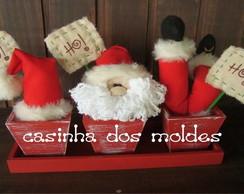 APOSTILA Trio cachepots natal Ho-Ho-Ho