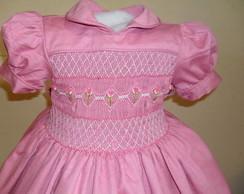 Vestido de fust�o rosa