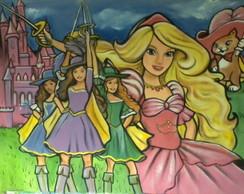 Painel Barbie e as tres mosqueteiras