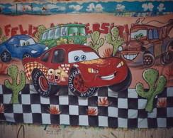 Painel em tecido Carros Disney