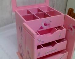 Porta J�ia Guarda Roupa rosa