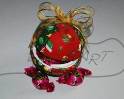 Bola de Natal de Patchwork