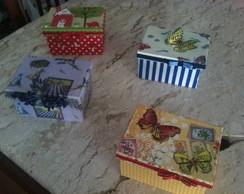 Mini caixas de costura infantis