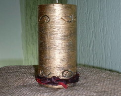 Vela cilindrica, decorada Natal