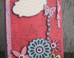 Mini agenda Scrapbook borboleta butterfly