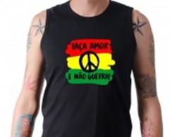 ... Camiseta Regata Faça Amor não guerra Estampada Algodão 8d7d6b69132