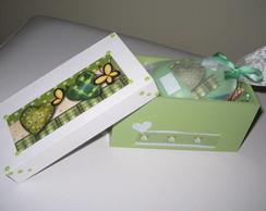 Caixa Patchwork verde