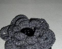 El�stico de cabelo om Flor em Crochet