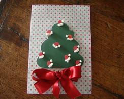 Cart�o de natal com chap�u papai noel