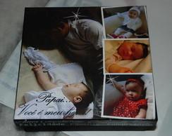 Caixa Personalizada com Fotos Papai