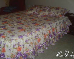COLCHA CASAL FLORAL LIL�S