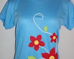 Flores 3 - cor azul claro