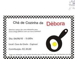 Convite Ch� de Cozinha-Frigideira relevo