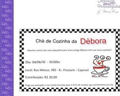 Convite Ch� de Cozinha - X�cara