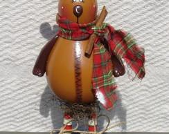 Rena de natal feita de caba�a 1
