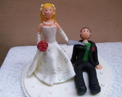 Topo de bolo - noivinhos