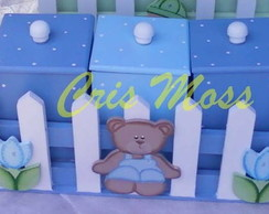 Trio ursinho azul
