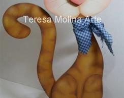 Projeto de Pintura Gato Amarelo Rajado