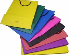 Sacola de papel cart�o duplex colorido