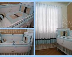 Kit ber�o azul c/ bolinhas color KTM-025