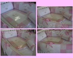 Kit para Ber�o Floral Rosa - Ovelhinha