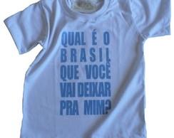 Camiseta Infantil malha PET Qual Brasil