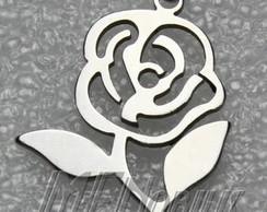 Colar Rosa Inox