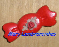 50 LEMBRANCINHA BALINHA COM FLOR BISCUIT