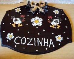 Placa Cozinha- Galinhas