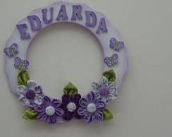 Quadro Guirlanda Maternidade Flores